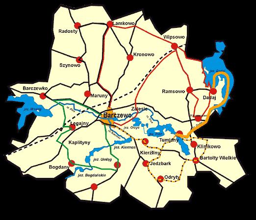 szlaki kajakowe Tumiany